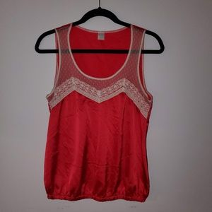 2/$20 Kirra Silk like tank top with lace